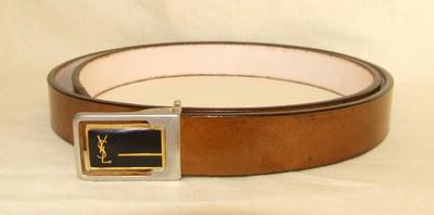 ceinture marron antique sur boucle YSL d`occasion