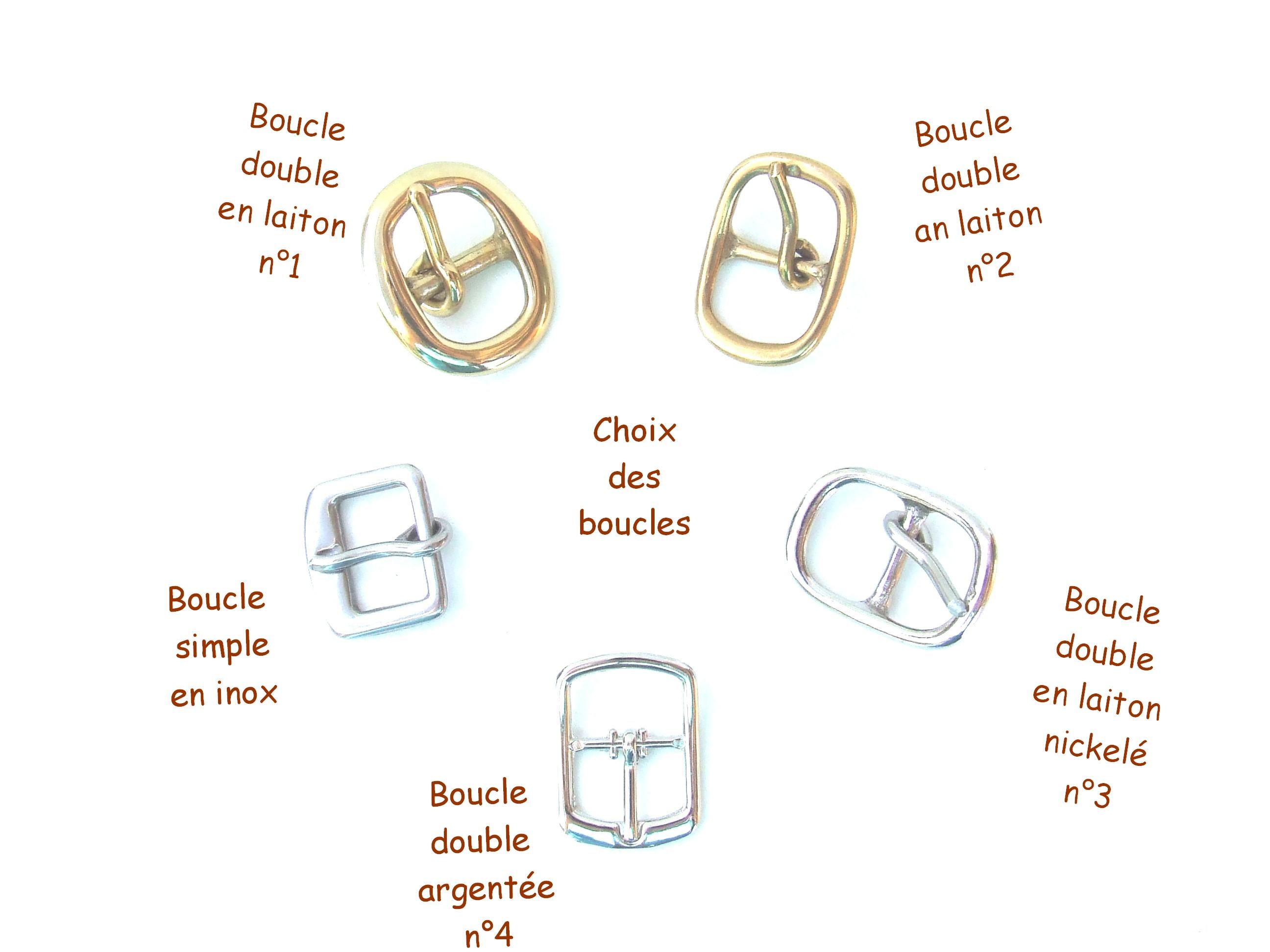 Boucles bracelets de force en 1,5 cm avec annotations de couleurs et matières