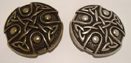 noeud celtique argent et laiton vieillis