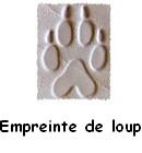 Empreinte de loup estampée sur cuir naturel tannage végétal pour personnalisation articles en cuir