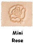 Fiche Mini rose - personnalisation cadeaux bracelets cuir, maroquinerie cuir - made in France