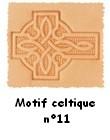 Motif coeur celtique 11 estampé en relief pour personnalisation sur les articles de la boutique
