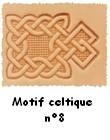 Motif celtique 8 martelé sur cuir tannage végétal pour personnalisation