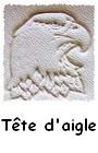 Tête d`aigle martelée sur cuir pour articles en cuir personnalisés