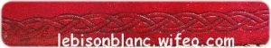 frise celtique rouge foncé ton sur ton objets en cuir à personnaliser
