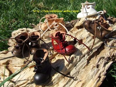 Godillots miniature en cuir montés en porte-clés différentes couleurs et personnalisation petite chaussure petit godillot mini