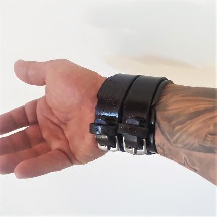Bracelets de force 2 bandes 6,5 cm