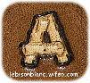lettre A alphabet bches pour personnalisation d`articles en cuir maroquinerie artisanale