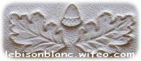 dessin feuilles de chene et gland en relief sur cuir tanné végétal naturellement avec extraits vegetaux pour personnalisation d`objets en cuir travail artisanal francais