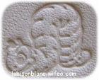 motif chenille imprimé sur cuir naturel tanné végétal pour personnalisation