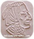 motif de tête d`indien estapée en relief sur cuir naturel tannage naturel pour customisation porte monnaie carte agenda cahier livre