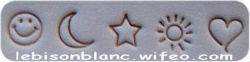 tout mini motifs simples smiley lune étoile soleil
